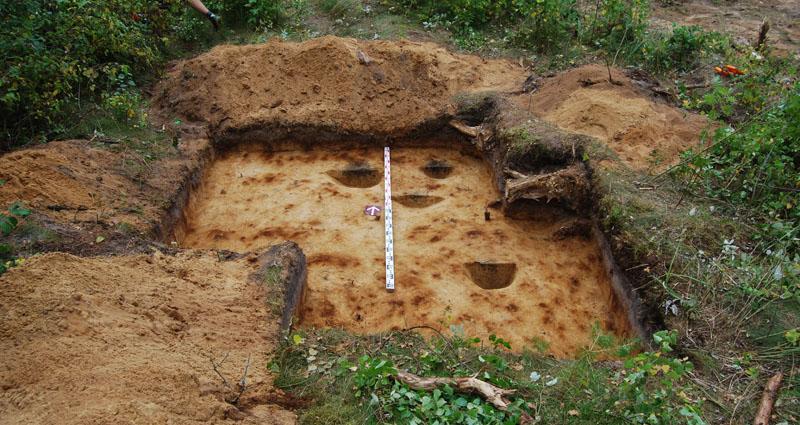 Žvalgomieji archeologiniai tyrimai Naudvaryje