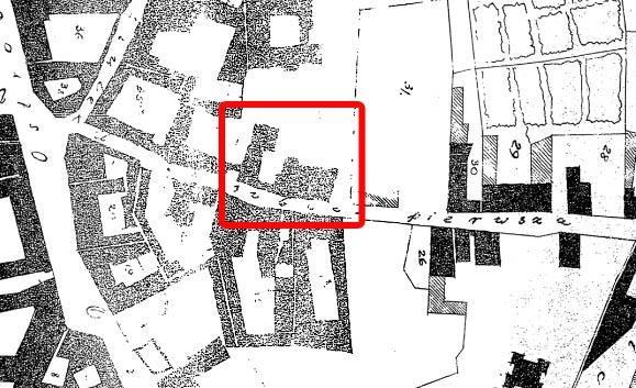 Pav. 4. Subačiaus g. 6 pastatas 1808 m. Vilniaus miesto plane