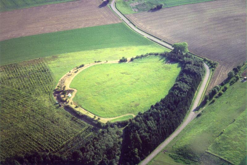 Hunenburg piliakalnis iš paukščio skrydžio. Šaltinis: https://idw-online.de/de/news218555