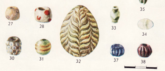 Keramikinis kiaušinis aptiktas Laukskoloje (Latvija). Šaltinis: Apals et al. 1974, tab. 75